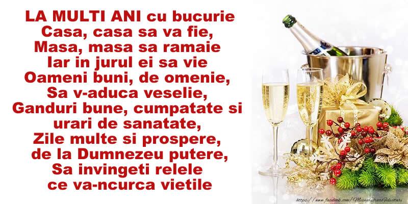 Felicitari de Anul Nou - LA MULTI ANI cu bucurie