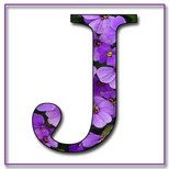 Greeting Cards With Name Letter J