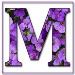 Greeting Cards With Name Letter M