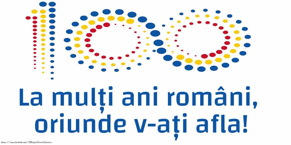 Felicitari de 1 Decembrie - La mulți ani români, oriunde v-ați afla!