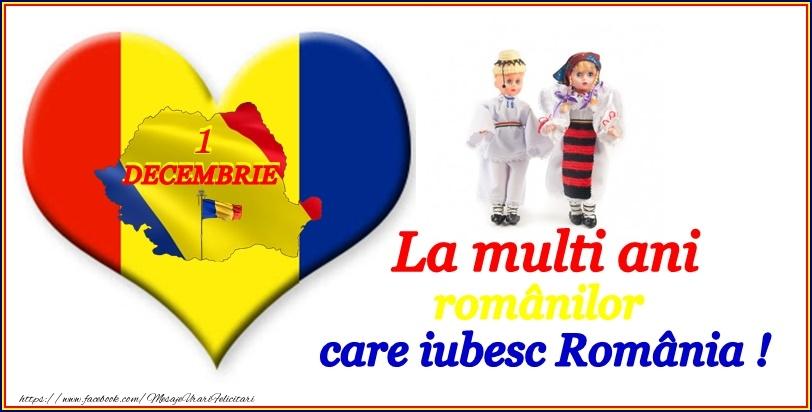 La multi ani romanilor care iubesc Romania!
