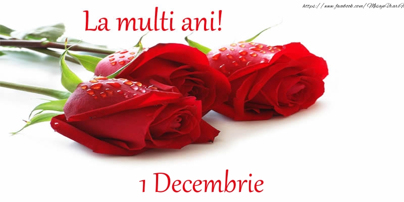 Cele mai apreciate felicitari de 1 Decembrie - La multi ani! 1 Decembrie
