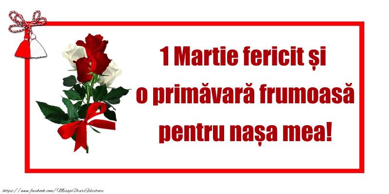 Felicitari de 1 Martie - 1 Martie fericit și o primăvară frumoasă pentru nașa mea! - mesajeurarifelicitari.com