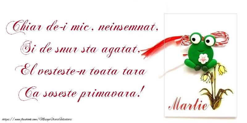 Cele mai apreciate felicitari de 1 Martie - Soseste primavara!