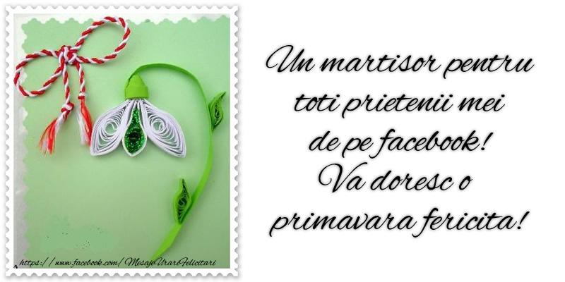1 Martie Un martisor pentru toti prietenii mei de pe facebook! Va doresc o primavara fericita!