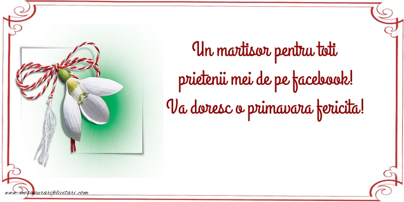 Felicitari de 1 Martie - Vă doresc o primăvară fericită!