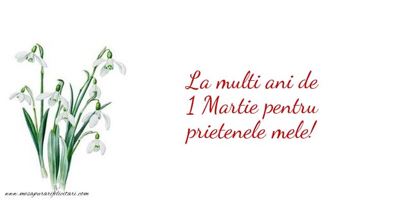 Felicitari de 1 Martie - La mulți ani de 1 Martie pentru prietenele mele!