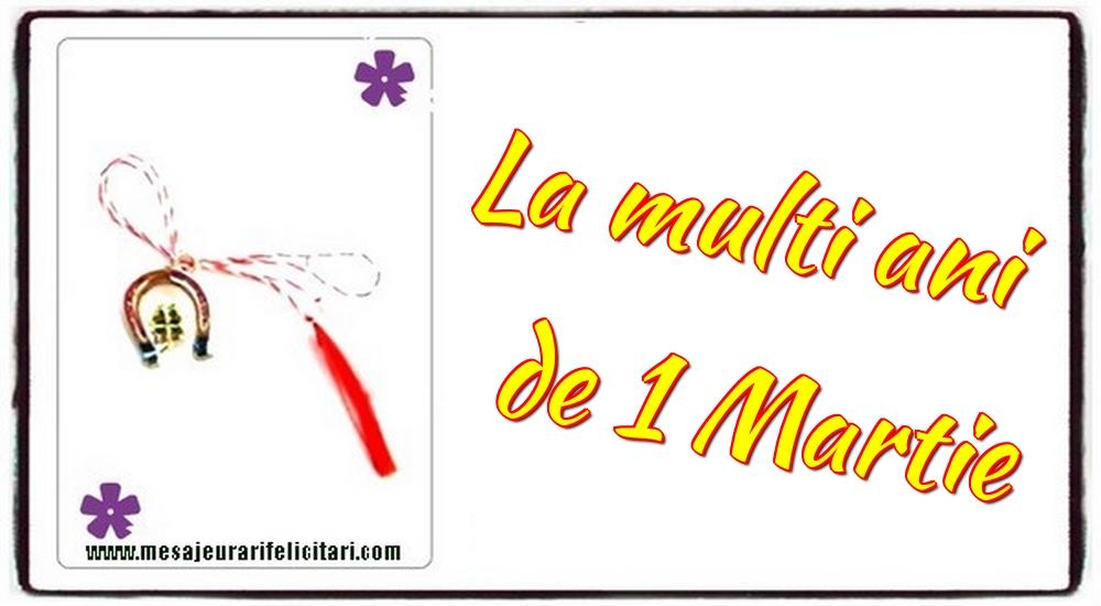 Felicitari de 1 Martie - La multi ani de 1 Martie - mesajeurarifelicitari.com