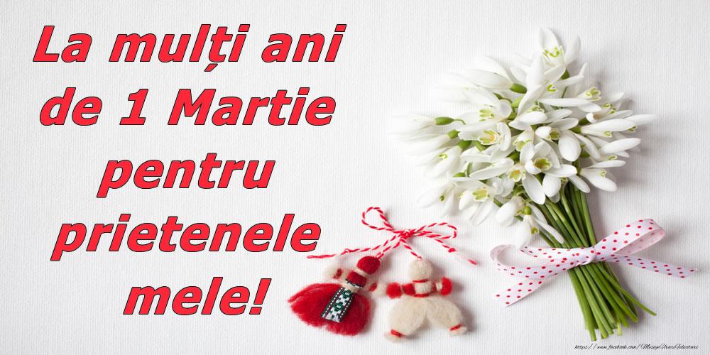 Felicitari de 1 Martie - La mulți ani de 1 Martie pentru prietenele mele! - mesajeurarifelicitari.com