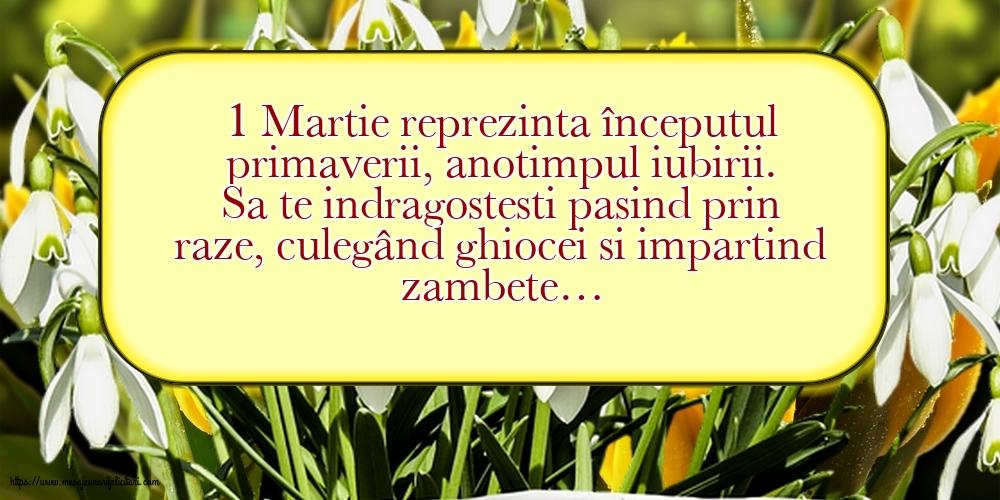 Felicitari de 1 Martie - 1 Martie reprezinta începutul primaverii