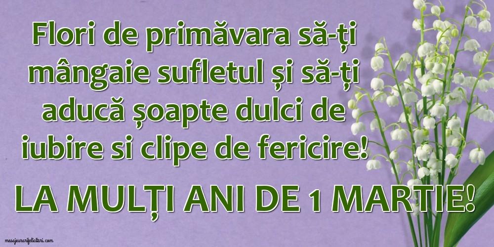 Felicitari de 1 Martie - La mulți ani de 1 Martie!
