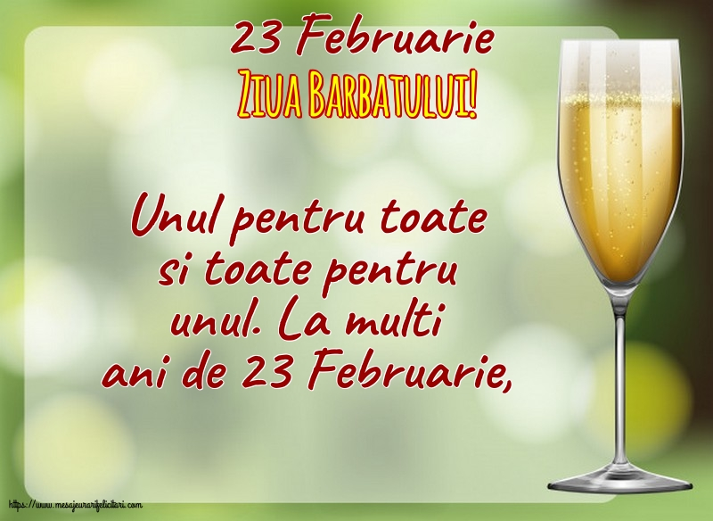 Felicitari de 23 Februarie - 23 Februarie - Ziua Barbatului!