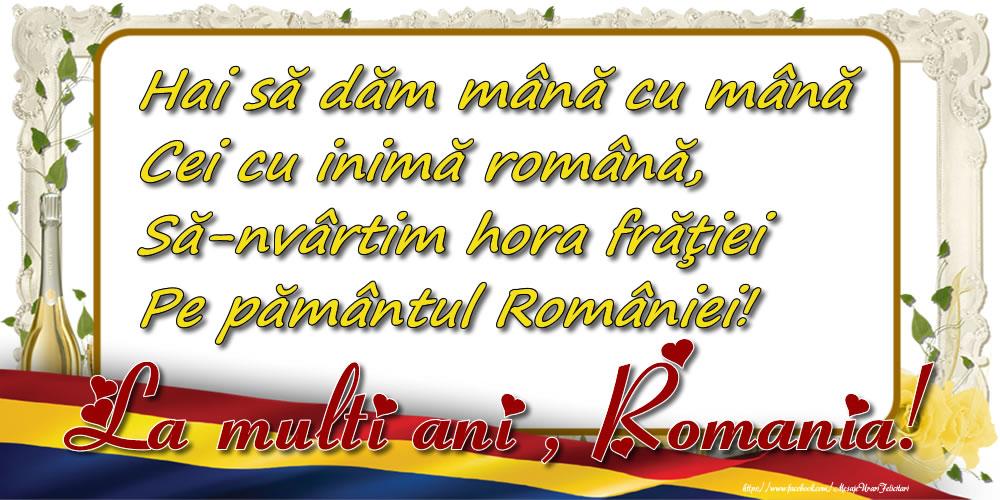 Felicitari de 24 Ianuarie - Hora Unirii. La mulți ani, România!