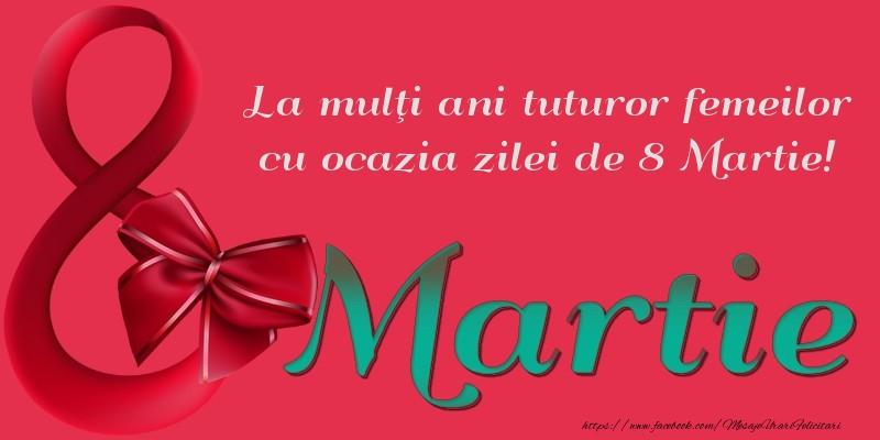 La mulţi ani tuturor femeilor cu ocazia zilei de 8 Martie!
