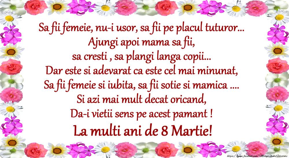8 Martie Poezie de 8 Martie