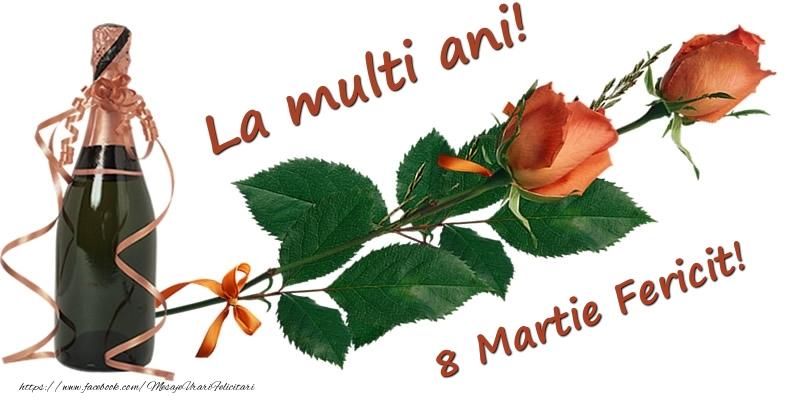 Felicitari de 8 Martie - La multi ani! 8 Martie Fericit!