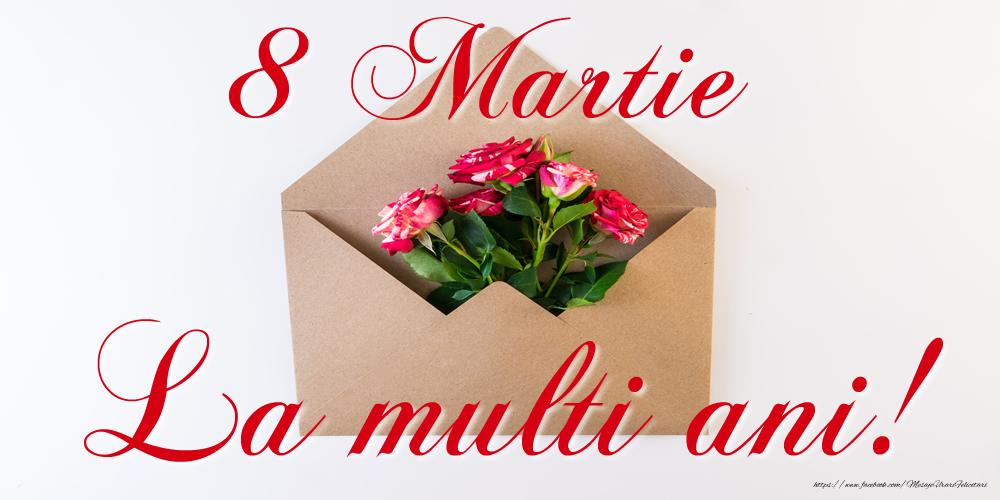 Felicitari de 8 Martie cu flori - 8 Martie - La multi ani!
