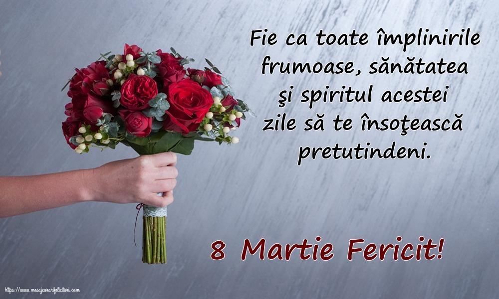 Felicitari de 8 Martie - 8 Martie Fericit!