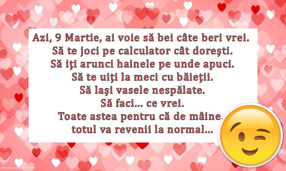 Felicitari de 9 Martie - Pentru tine de 9 Martie - mesajeurarifelicitari.com