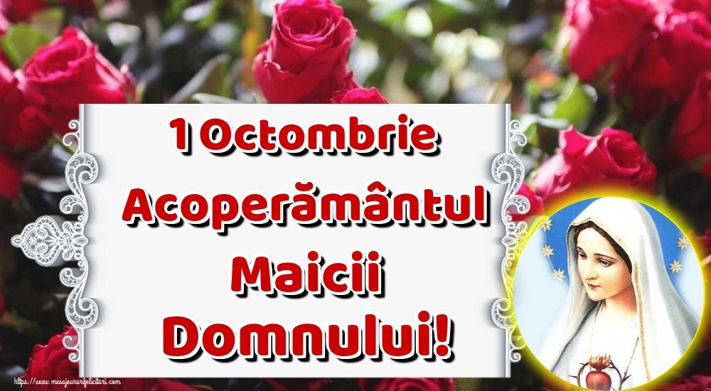Felicitari de Acoperământul Maicii Domnului - 1 Octombrie Acoperământul Maicii Domnului! - mesajeurarifelicitari.com