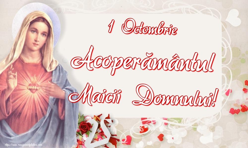 Felicitari de Acoperământul Maicii Domnului - 1 Octombrie Acoperământul Maicii Domnului!