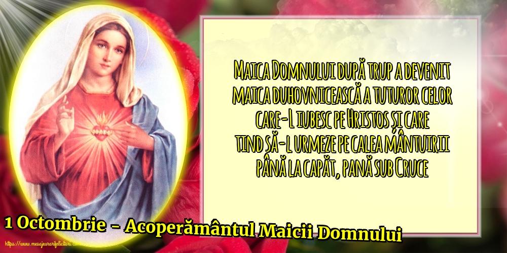 Felicitari de Acoperământul Maicii Domnului - 1 Octombrie - Acoperământul Maicii Domnului