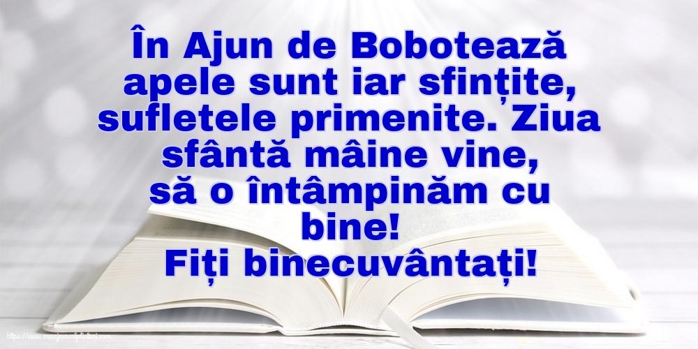 Felicitari de Ajunul Bobotezei - Fiți binecuvântați!