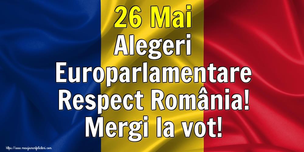 Imagini Alegeri - 26 Mai Alegeri Europarlamentare Respect România! Mergi la vot!