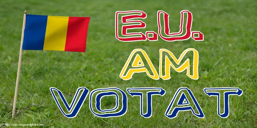 Alegeri E.U. AM VOTAT