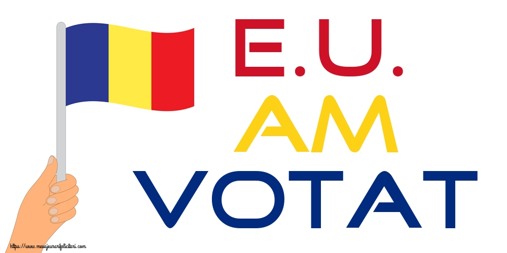 Imagini Alegeri - E.U. AM VOTAT