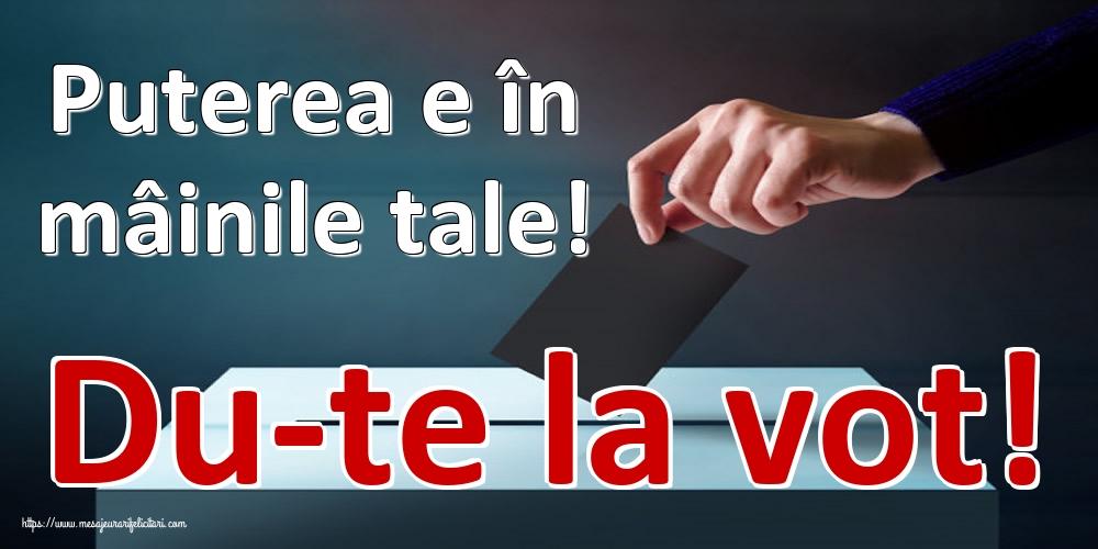 Imagini Alegeri - Puterea e în mâinile tale! Du-te la vot!