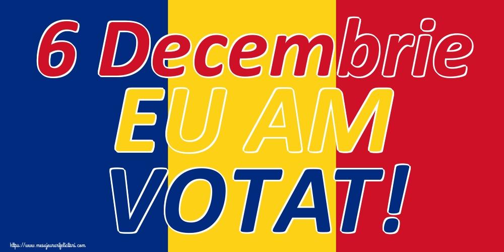Imagini Alegeri - 6 Decembrie EU AM VOTAT!
