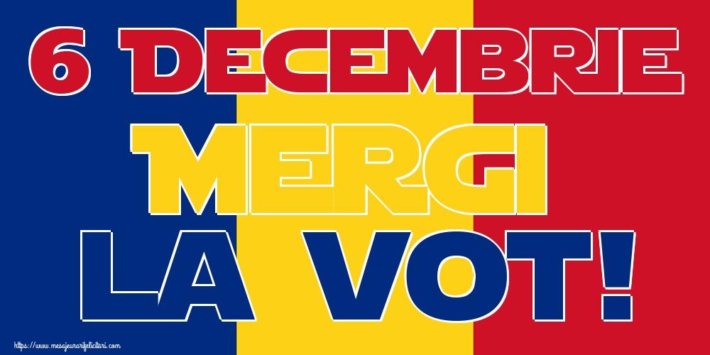 Imagini Alegeri - 6 Decembrie Mergi la vot!