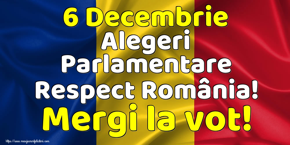Imagini Alegeri - 6 Decembrie Alegeri Parlamentare Respect România! Mergi la vot!