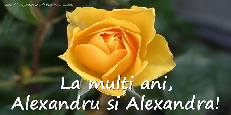 La multi ani, Alexandru si Alexandra!