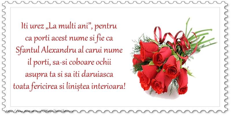 """Felicitari de Sfantul Alexandru - Iti urez """"La multi ani"""""""