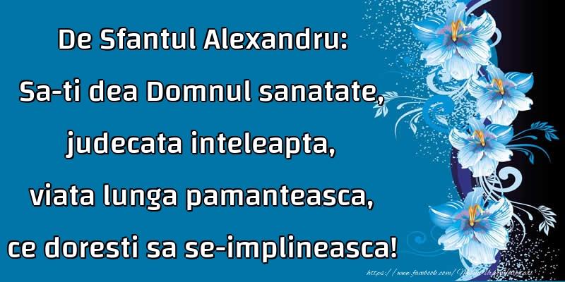 Felicitari de Sfantul Alexandru - De Sfantul Alexandru