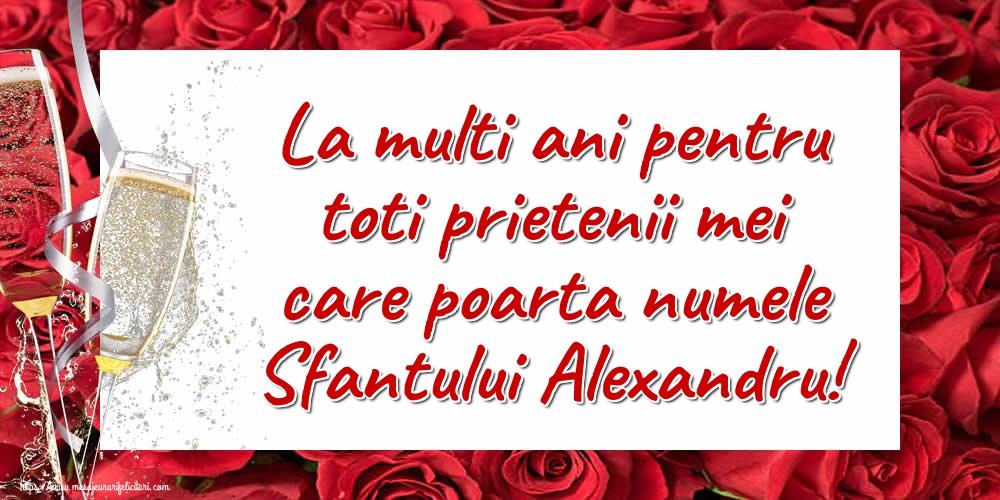 Felicitari de Sfantul Alexandru - La multi ani pentru toti prietenii mei care poarta numele Sfantului Alexandru!