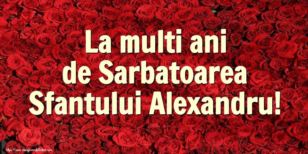Felicitari de Sfantul Alexandru - La multi ani de Sarbatoarea Sfantului Alexandru!
