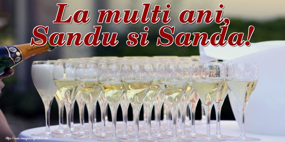 Felicitari de Sfantul Alexandru - La multi ani, Sandu si Sanda!
