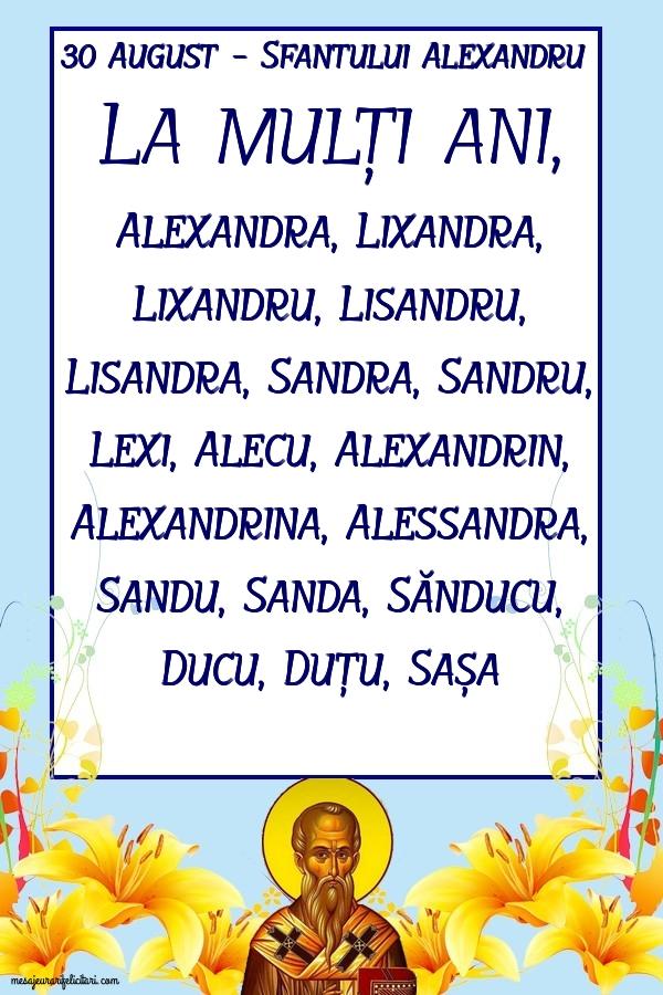 30 August - Sfantului Alexandru