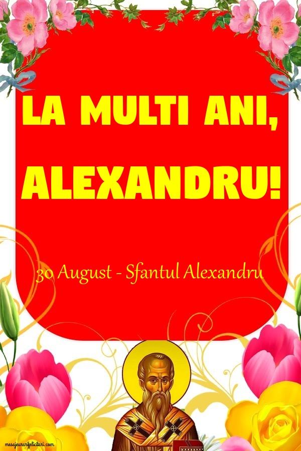 Felicitari de Sfantul Alexandru 2019