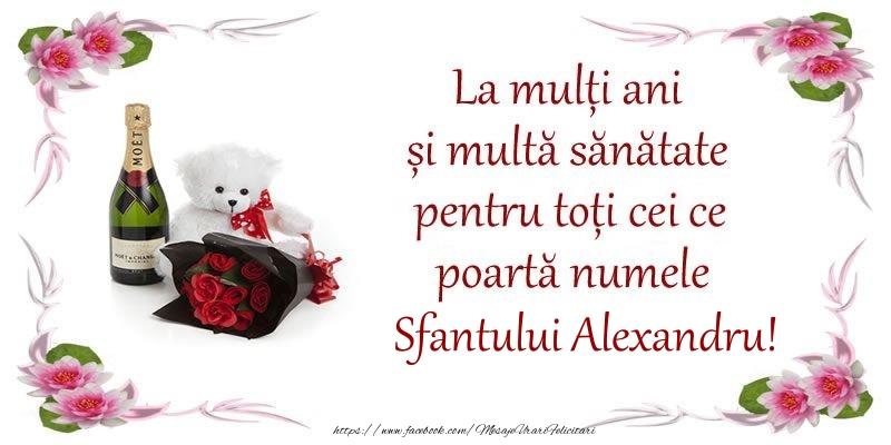 La multi ani si multa sanatate pentru toti ce poarta numele Sfantului Alexandru!