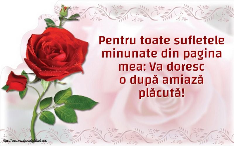 Amiaza Pentru toate sufletele minunate din pagina mea