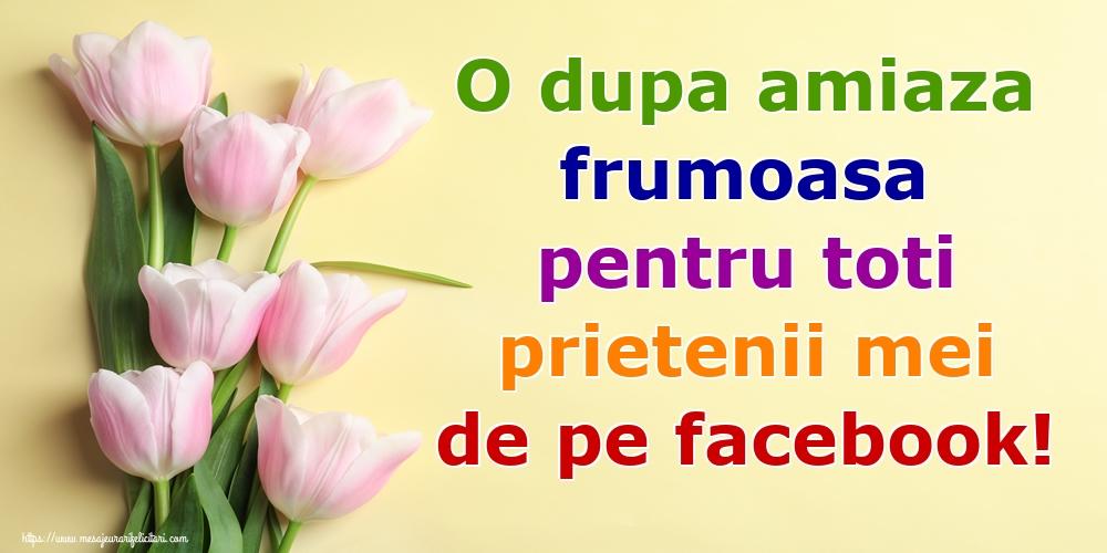 Felicitari de Amiaza - O dupa amiaza frumoasa pentru toti prietenii mei de pe facebook! - mesajeurarifelicitari.com