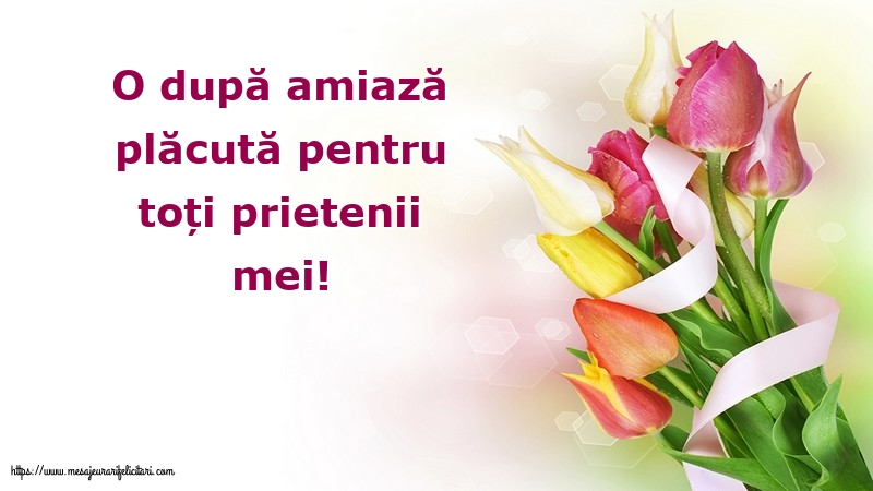 Felicitari de Amiaza - O după amiază plăcută pentru toți prietenii mei!