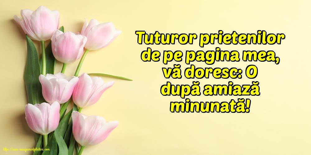 Felicitari de Amiaza - Vă doresc: O după amiază minunată! - mesajeurarifelicitari.com