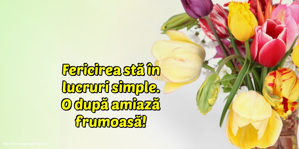 Felicitari de Amiaza - Fericirea stă în lucruri simple