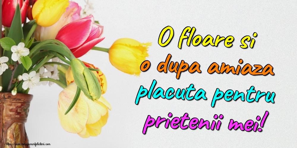 Felicitari de Amiaza - O floare si o dupa amiaza placuta pentru prietenii mei!