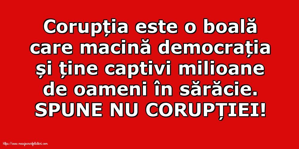 Imagini de Ziua Internațională Anticorupție - SPUNE NU CORUPȚIEI! - mesajeurarifelicitari.com